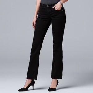 Size 2 or 14 black Slimming stretchbootcut jeans